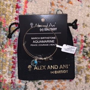 Alex and Ani March Birthstone Bracelet in Silver